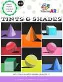Tint and Shade Shapes Lesson Plan Pack with Templates