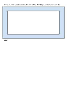 Tint and Shade Worksheet
