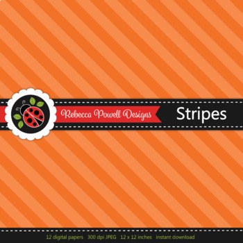 Tinted rainbow Wide diagonal stripes printable digital papers set/ backgrounds