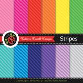 Tinted rainbow diagonal stripes printable digital papers s