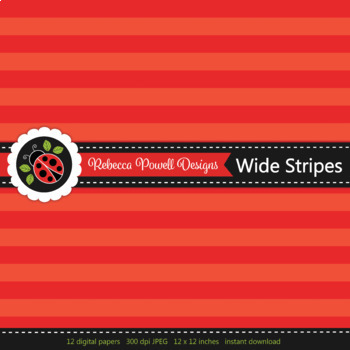 Tinted rainbow wide candy stripes printable digital papers set/ backgrounds