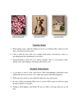 """Mother's Day Art: Watercolor Tinting """"Flowers"""" (Printable #7)"""