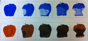 Tints and Shades- Apple Painting