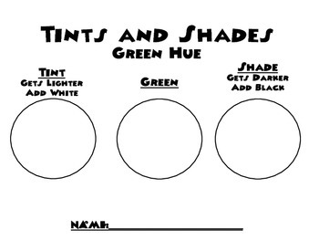 Tints and Shades Worksheet(s)
