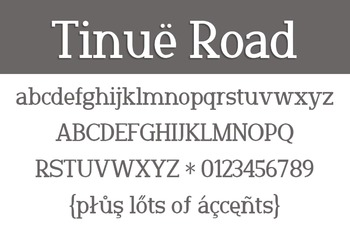 Tinuë Road Font for Commercial Use