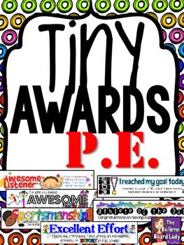Tiny Awards for P.E. or Gym Class