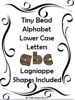 Tiny Bead Lower Case ABC Clip Art - No Strings Attached!