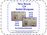 Tiny Book of 3D Solid Shapes  Print, Fold, Cut and Glue