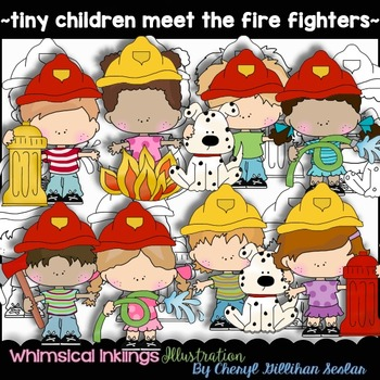 Tiny Children Meet the Fire Fighters Clipart Collection