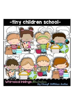 Tiny Children School Clipart Collection