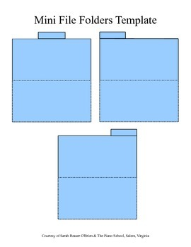 Tiny File Folders Template