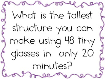 Tiny Glasses Structures: Engineering Challenge Project ~ Great STEM Activity!