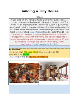 Tiny House Project Hyperdoc (Worksheet/GoogleDoc