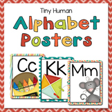 Tiny Human Alphabet Posters