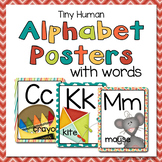 Tiny Human Alphabet Posters with words