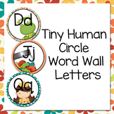 Tiny Human Circle Word Wall Letters