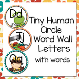 Tiny Human Circle Word Wall Letters with words