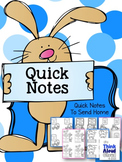 Quick Notes  {to Send Home for Special Occasions}