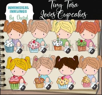Tiny Tara Loves Cupcakes Clipart Collection