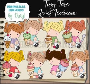 Tiny Tara Loves Ice Cream Clipart Collection