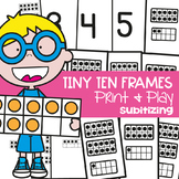 Ten Frame Math Center Activity/Games - Tiny Ten Frames