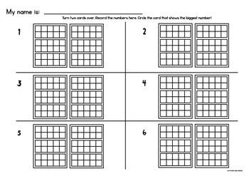 Ten Frame Math Center Activity/Games - Tiny Ten Frames