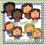 {Tiny Toes} Ready for School Girls Clipart