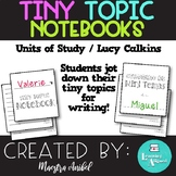 Tiny Topic Notepad, Tiny Topic Notebook, Cuaderno de Mini Temas