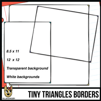 Tiny Triangle Border (Letter & Square)
