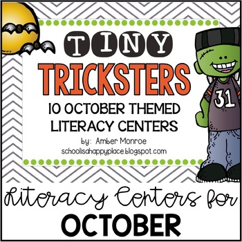 Tiny Tricksters {10 October Themed Literacy Centers}