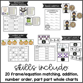 Tiny Tricksters {10 October Themed Math Centers}
