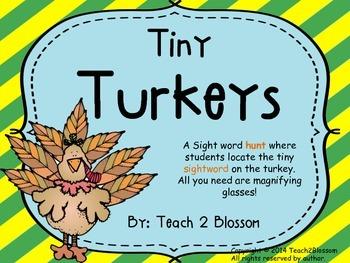 Tiny Turkeys: A Sight Word Hunt