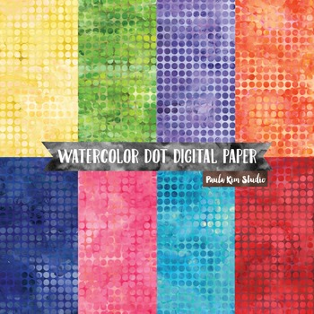 Tiny Watercolor Polka Dot Backgrounds