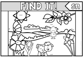 Tiny Word Hunt I Spy Blends Freebie