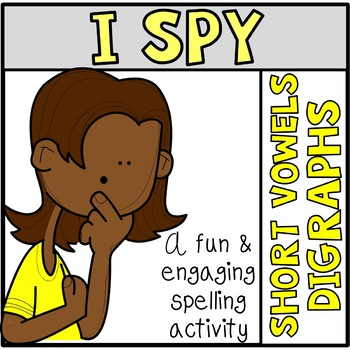 Tiny Word Hunt I SPY CVC Digraphs