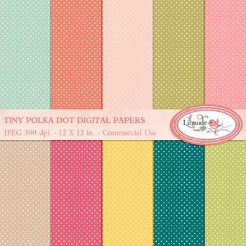 Tiny polka dot digital papers