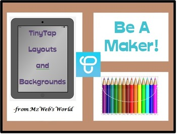 Backgrounds and Layouts for TpT and TinyTap Activities