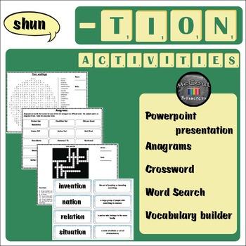 Tion Word Work Activities