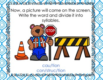 Tion and ture syllable