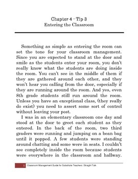Tip 3: Entering the Classroom