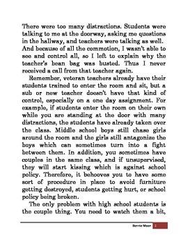 Tip 3: Entering the Classroom