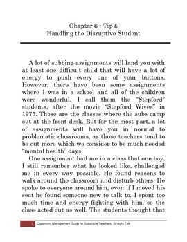 Tip 5: Handling the Disruptive Student