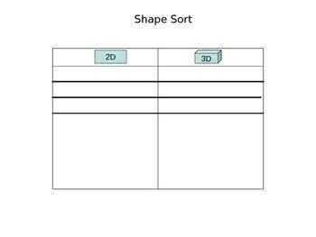 Tip Top Shape Sort - Sorting 2D & 3D Shapes