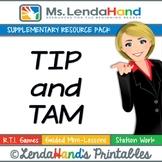 Reading Street, TIP AND TAM, Teacher Pack by Ms. Lendahand:)