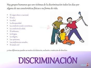 Tipos de Discriminacion y sus Caracteristicas