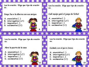Tipos de Oraciones - Gramática