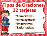 Types of Sentences Task Cards (Spanish) - Tipos de oraciones