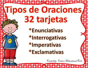 Types of Sentences Task Cards (Spanish) - Tipos de oraciones