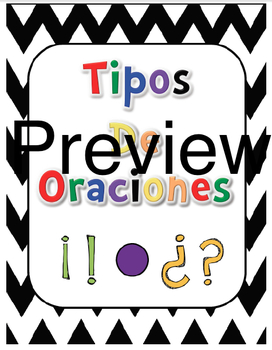 Tipos de Oraciones/ Types of sentences in Spanish