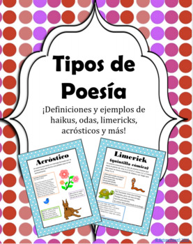 Tipos de Poesía en Español